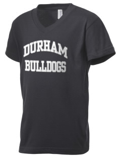 Durham School Bulldogs Kid's V-Neck Jersey T-Shirt