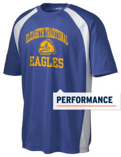 Elizabeth Traditional Elementary School Eagles Men's Dry Zone Colorblock T-Shirt
