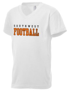 Southwest High School Stallions Kid's V-Neck Jersey T-Shirt