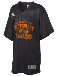 Southwest High School Stallions Russell Kid's Replica Football Jersey