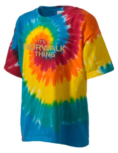 Norwalk High School Truckers Kid's Tie-Dye T-Shirt