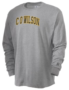 C O Wilson Middle School Bullpups  Russell Men's Long Sleeve T-Shirt