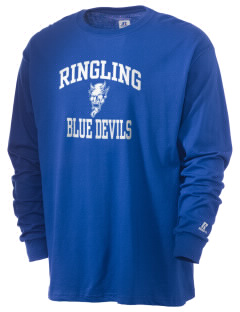Ringling Elementary School Blue Devils  Russell Men's Long Sleeve T-Shirt