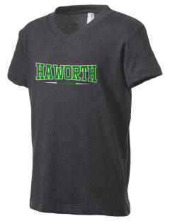 Haworth High School Lions Kid's V-Neck Jersey T-Shirt