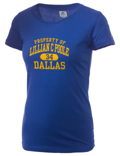 Lillian C Poole Elementary School Dallas  Russell Women's Campus T-Shirt