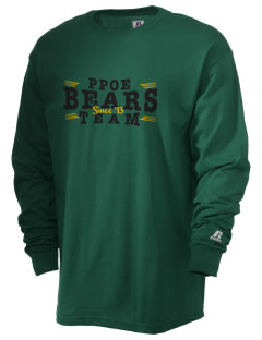 Pikes Peak School of Expeditionary Learn Bears  Russell Men's Long Sleeve T-Shirt