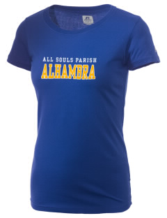 All Souls Parish Alhambra  Russell Women's Campus T-Shirt