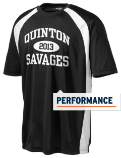 Quinton High School Savages Men's Dry Zone Colorblock T-Shirt
