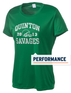 Quinton High School Savages Women's Competitor Performance T-Shirt