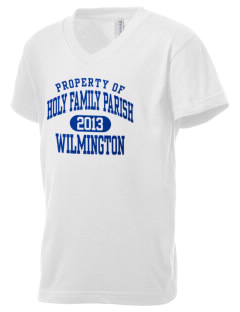 Holy Family Parish Wilmington Kid's V-Neck Jersey T-Shirt