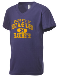 Holy Name Parish Blanchester Kid's V-Neck Jersey T-Shirt