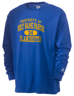 Holy Name Parish Blanchester  Russell Men's Long Sleeve T-Shirt