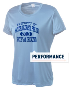 Mater Dolorosa Parish South San Francisco Women's Competitor Performance T-Shirt