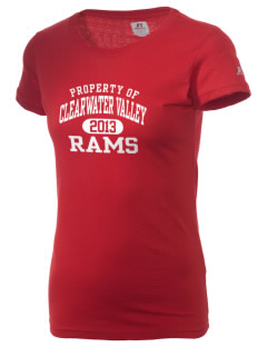 Clearwater Valley Elementary School Rams  Russell Women's Campus T-Shirt