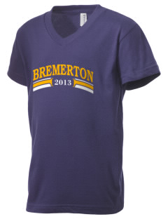 Our Lady Star of The Sea Parish Bremerton Kid's V-Neck Jersey T-Shirt