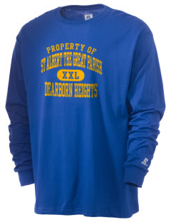 St Albert The Great Parish Dearborn Heights  Russell Men's Long Sleeve T-Shirt