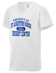 St Augustine Parish Desert Center Kid's V-Neck Jersey T-Shirt