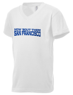 St Emydius Parish San Francisco Kid's V-Neck Jersey T-Shirt