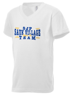 St James Parish Sauk Village Kid's V-Neck Jersey T-Shirt