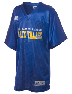 St James Parish Sauk Village Russell Kid's Replica Football Jersey