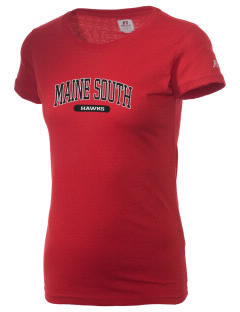 Maine South High School Hawks  Russell Women's Campus T-Shirt