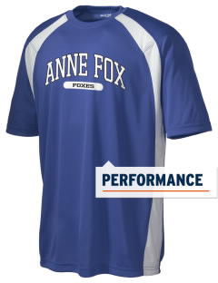Anne Fox Elementary School Foxes Men's Dry Zone Colorblock T-Shirt