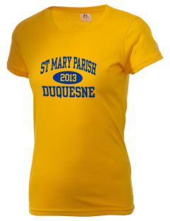 St Mary Parish Duquesne  Russell Women's Campus T-Shirt
