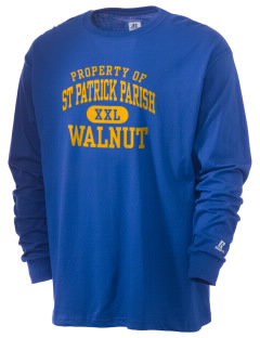 St Patrick Parish Walnut  Russell Men's Long Sleeve T-Shirt