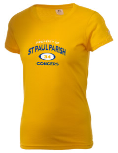 St Paul Parish Congers  Russell Women's Campus T-Shirt