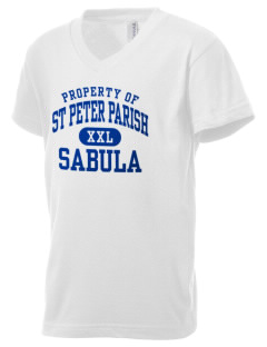 St Peter Parish Sabula Kid's V-Neck Jersey T-Shirt