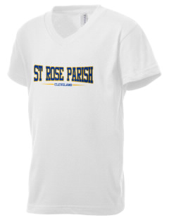 St Rose Parish Cleveland Kid's V-Neck Jersey T-Shirt