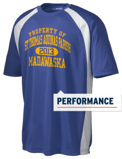St Thomas Aquinas Parish Madawaska Men's Dry Zone Colorblock T-Shirt