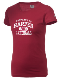 Harper High School Cardinals  Russell Women's Campus T-Shirt