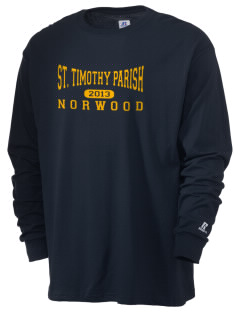 St. Timothy Parish Norwood  Russell Men's Long Sleeve T-Shirt