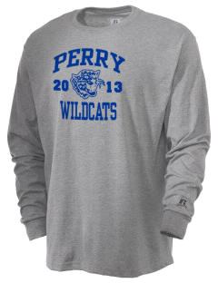 Perry Elementary School Wildcats  Russell Men's Long Sleeve T-Shirt