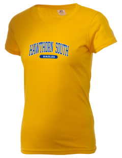 Hawthorn Elementary School South Eagles  Russell Women's Campus T-Shirt