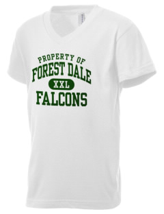 Forest Dale Elementary School Falcons Kid's V-Neck Jersey T-Shirt