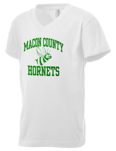 Macon County Elementary School Hornets Kid's V-Neck Jersey T-Shirt