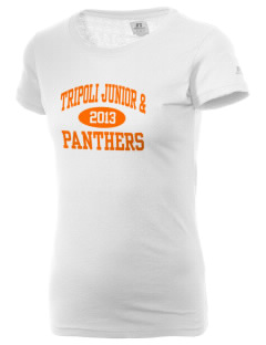 Tripoli Junior & Senior High School Panthers  Russell Women's Campus T-Shirt