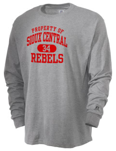 Sioux Central Junior High School Rebels  Russell Men's Long Sleeve T-Shirt