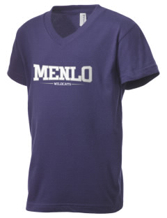 Menlo Elementary School Wildcats Kid's V-Neck Jersey T-Shirt