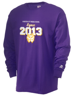 Webster City Middle School Lynx  Russell Men's Long Sleeve T-Shirt