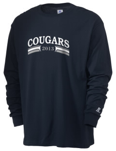 Ackley-Geneva Elementary School Cougars  Russell Men's Long Sleeve T-Shirt