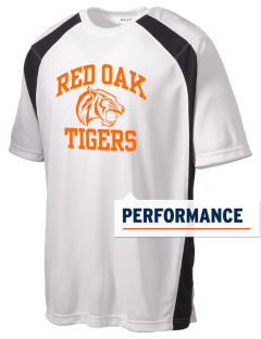 Red Oak Middle School Tigers Men's Dry Zone Colorblock T-Shirt