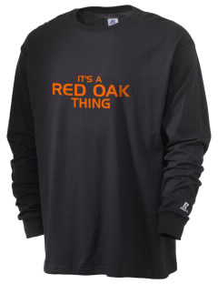 Red Oak Middle School Tigers  Russell Men's Long Sleeve T-Shirt