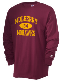 Mulberry Elementary School Mohawks  Russell Men's Long Sleeve T-Shirt