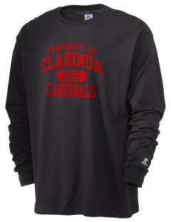 Clarinda Senior High School Cardinals  Russell Men's Long Sleeve T-Shirt