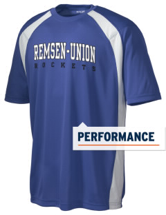 Remsen-Union Community School Rockets Men's Dry Zone Colorblock T-Shirt