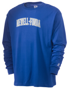 Newell-Fonda Middle School Mustangs  Russell Men's Long Sleeve T-Shirt