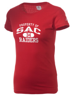 Sac Community High School Indians  Russell Women's Campus T-Shirt